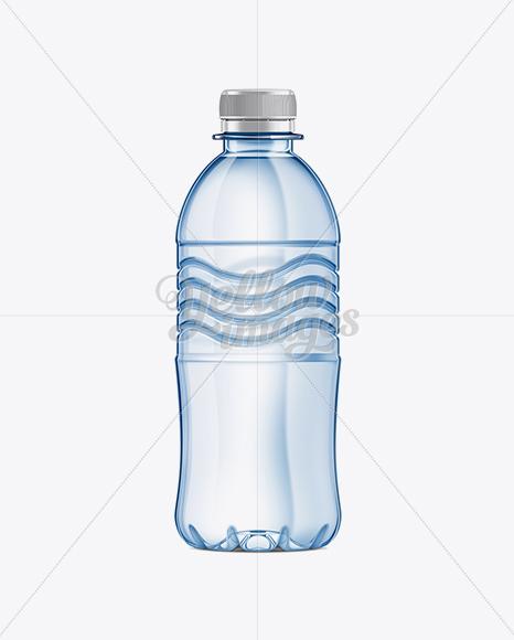 350ml Plastic Water Bottle Mockup In Bottle Mockups On