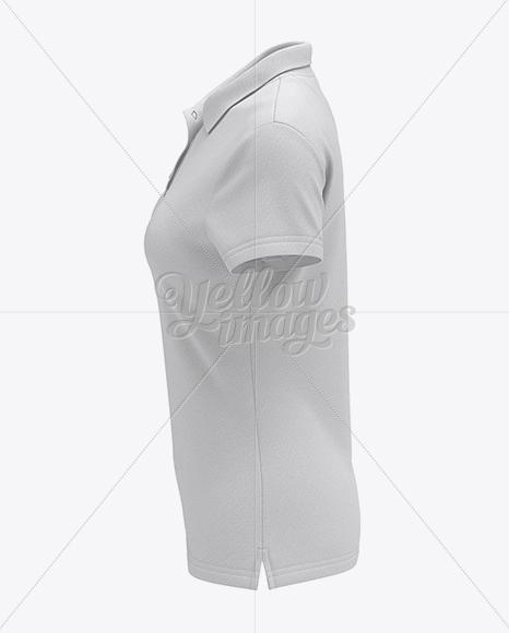 Womens White Polo Shirt