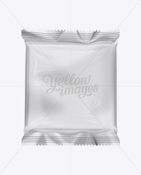 snack food packaging mockup in flow pack mockups on yellow images