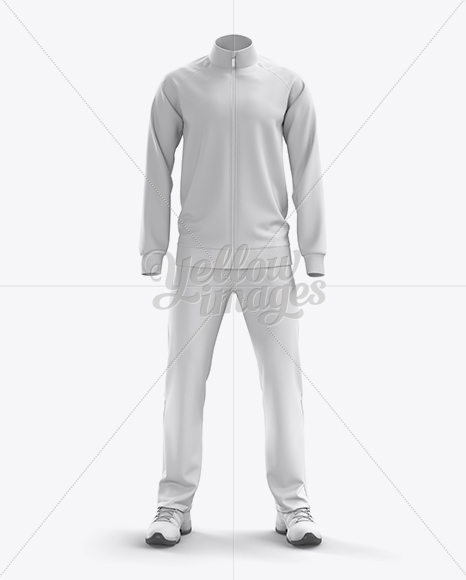 Men S Tracksuit Mock Up Front View In Apparel Mockups On