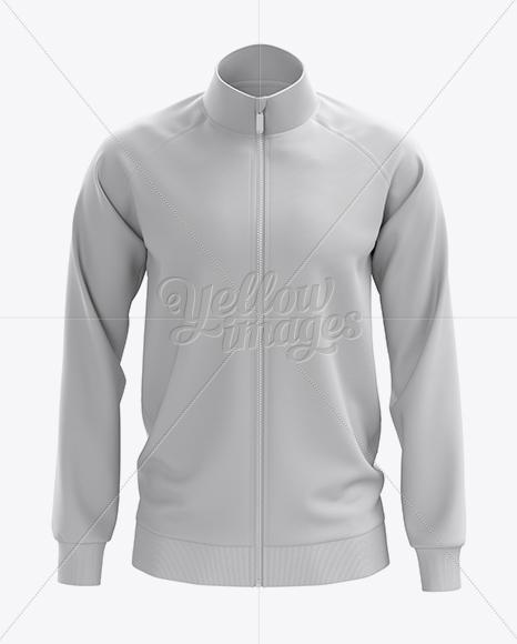 Men S Training Jacket Mockup Front View In Apparel Mockups On