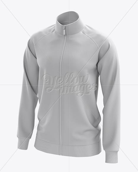 Men S Training Jacket Mockup Half Side View In Apparel Mockups On