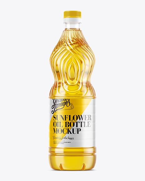 Download Sunflower Oil Bottle Mockup in Bottle Mockups on Yellow ... Free Mockups