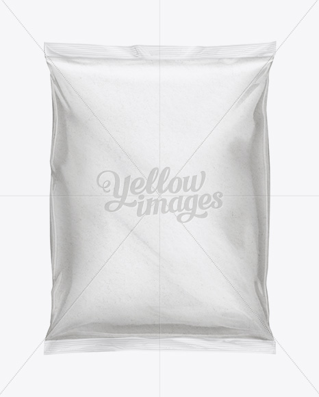 Plastic Bag With Flour Mockup In Bag & Sack Mockups On