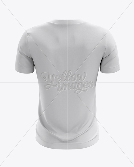 crew neck soccer t shirt mockup back view in apparel mockups on