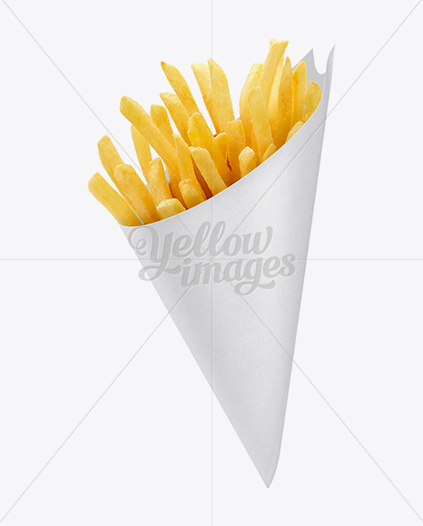 French Fries Paper Cone Mockup In Packaging Mockups On