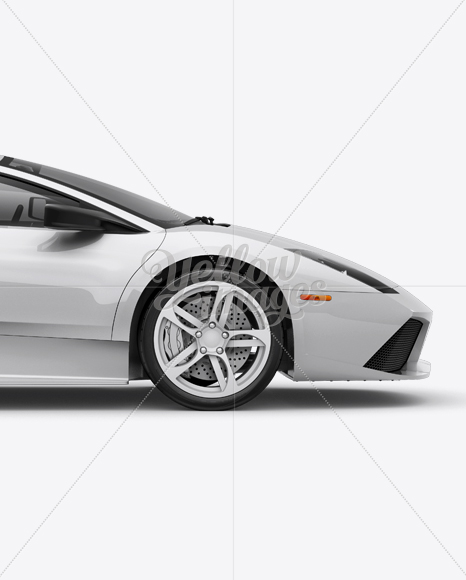 Lamborghini Murciélago Mockup Right Side View