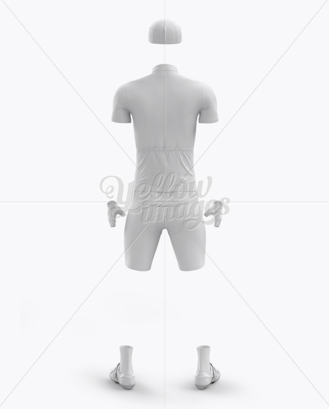 Men's Full Cycling Kit Mockup (Back View)