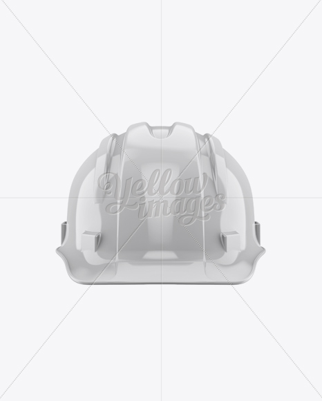 43acdd934ae Glossy Hard Hat Mockup - Front View in Apparel Mockups on Yellow ...