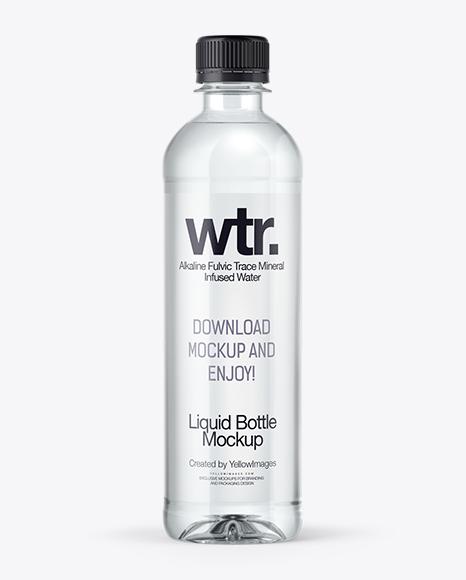 PET Water Bottle Mockup in Bottle Mockups on Yellow Images Object ...