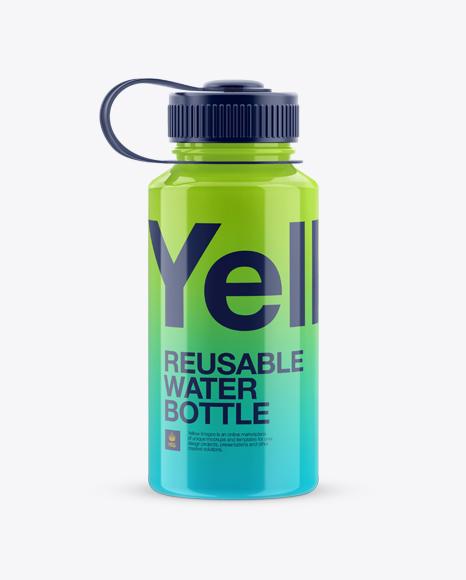 Plastic Reusable Water Bottle Mockup In Bottle Mockups On