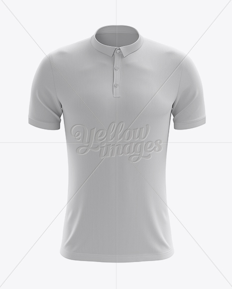Men s soccer polo shirt mockup front view in apparel for Free polo shirt mockup