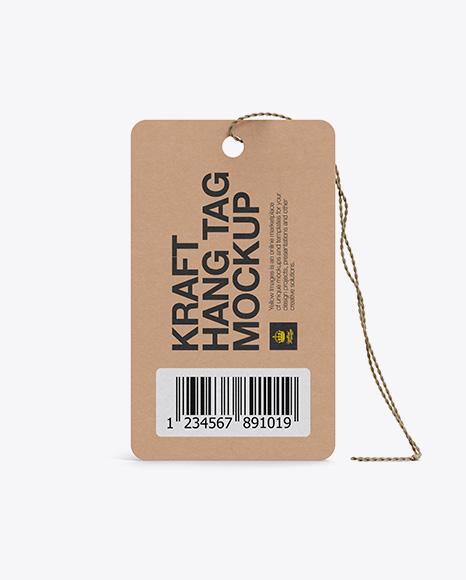 Kraft Hang Tag Mockup (Front & Back Views) in Object Mockups on ...