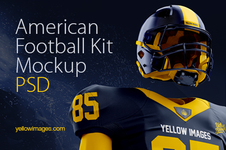 American Football Kit Mockup Psd In Apparel Mockups On Yellow Images