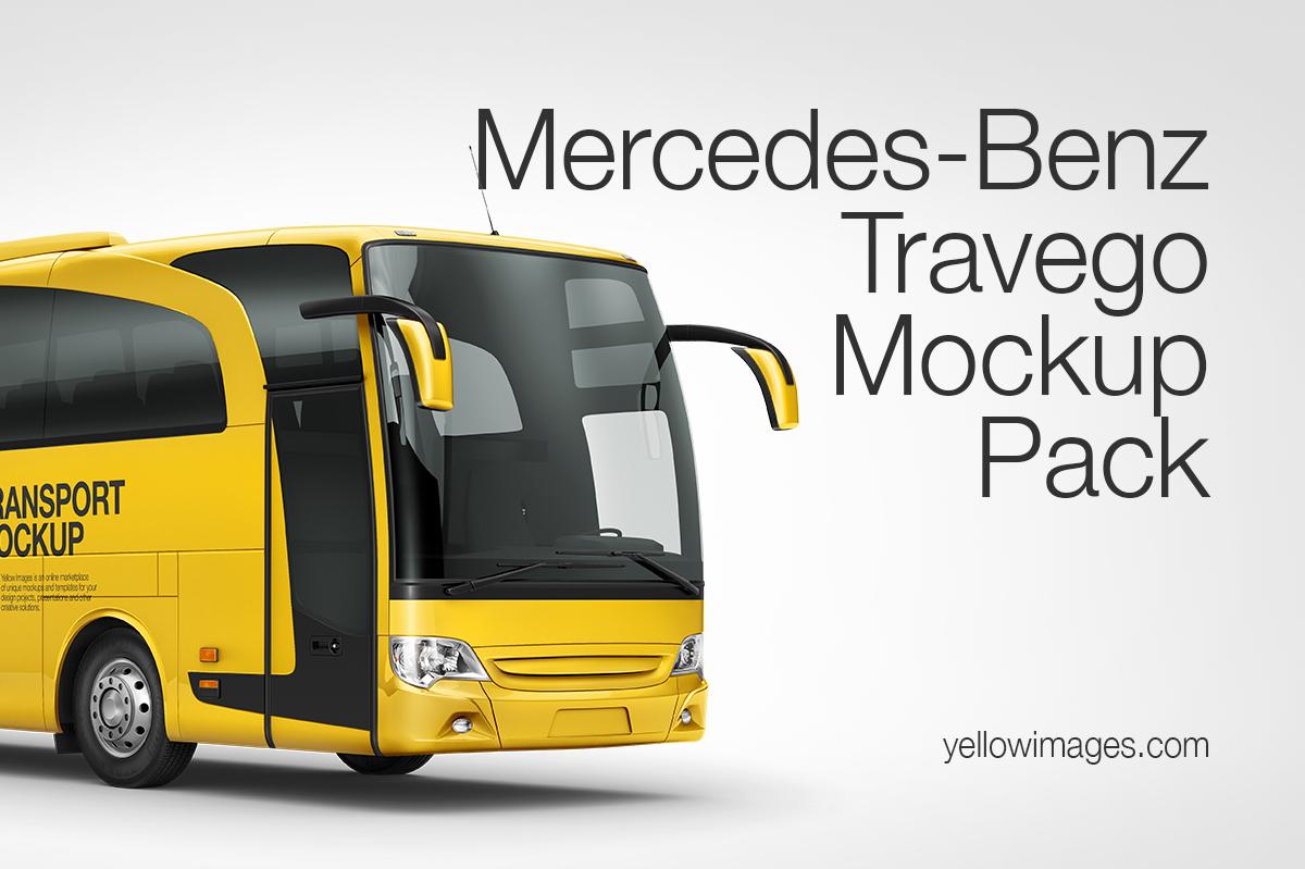 Mercedes benz travego mockup pack in vehicle mockups on for Mercedes benz store