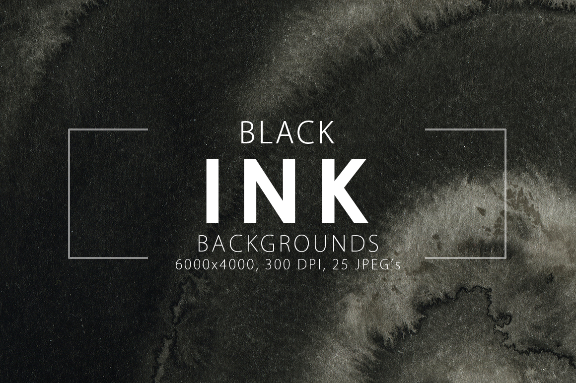 Black Ink Backgrounds in Textures on Yellow Images ...