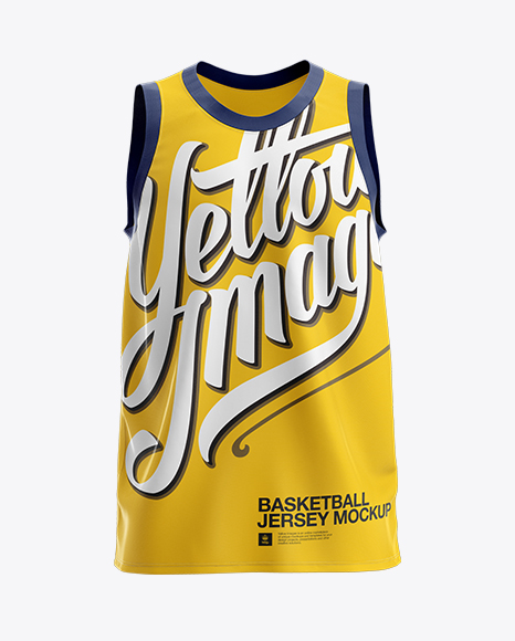 Download Basketball Jersey Mockup - Front View in Apparel Mockups ... Free Mockups