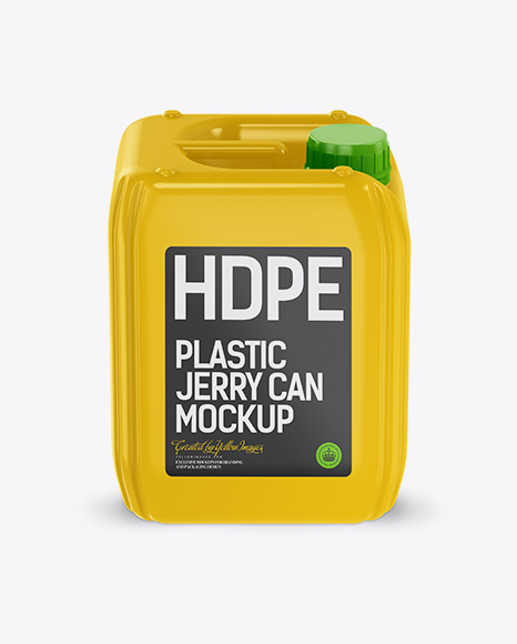 5L Plastic Jerry Can Mockup – Front View (High-Angle Shot)