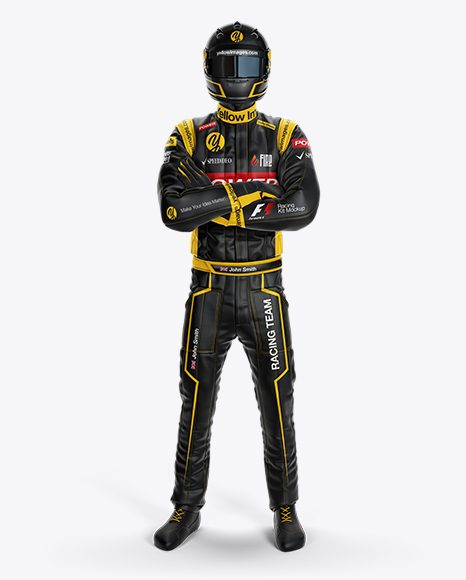 F1 Racing Kit Mockup – Front View