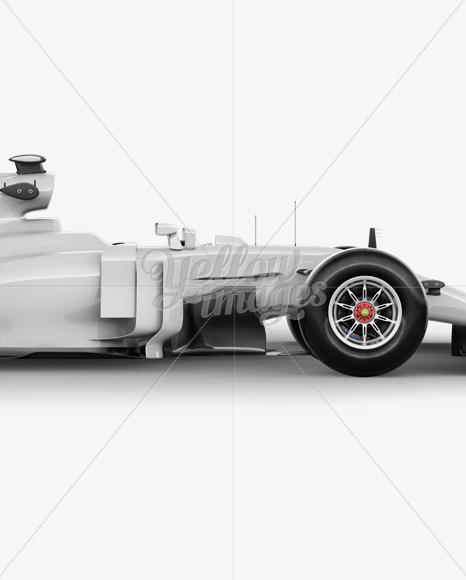 2017 Formula 1 Car Mockup - Right View