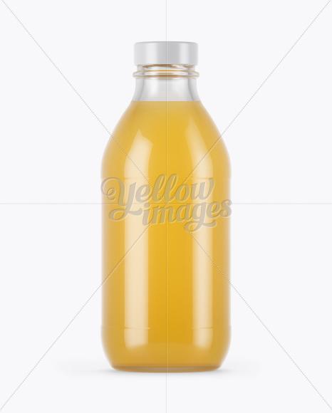 330ml Clear Glass Orange Juice Bottle Mockup in Bottle ...