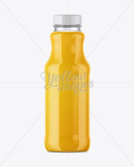Clear Glass Bottle With Orange Juice Mockup in Bottle ...