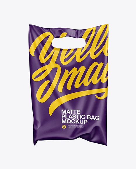 Matte Plastic Carrier Bag Mockup In Bag & Sack Mockups On
