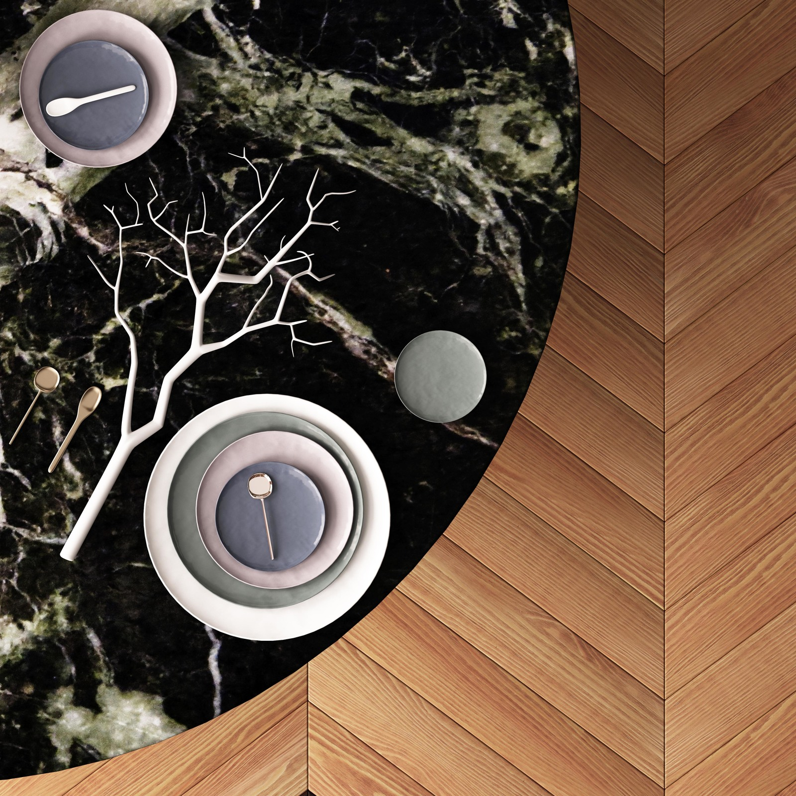 Mockup of a dining table. Top view. in Indoor Advertising ...