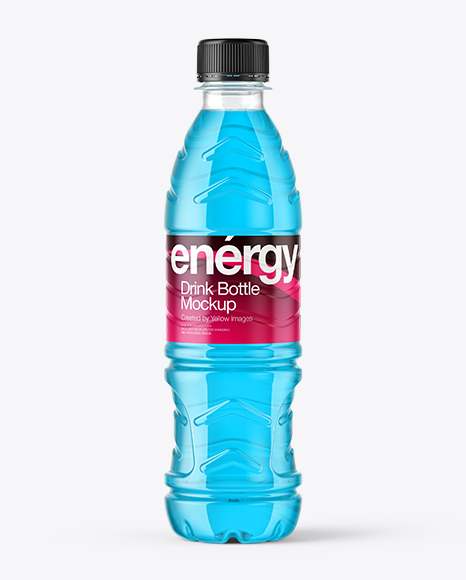 Clear Energy Drink Bottle Mockup In Bottle Mockups On