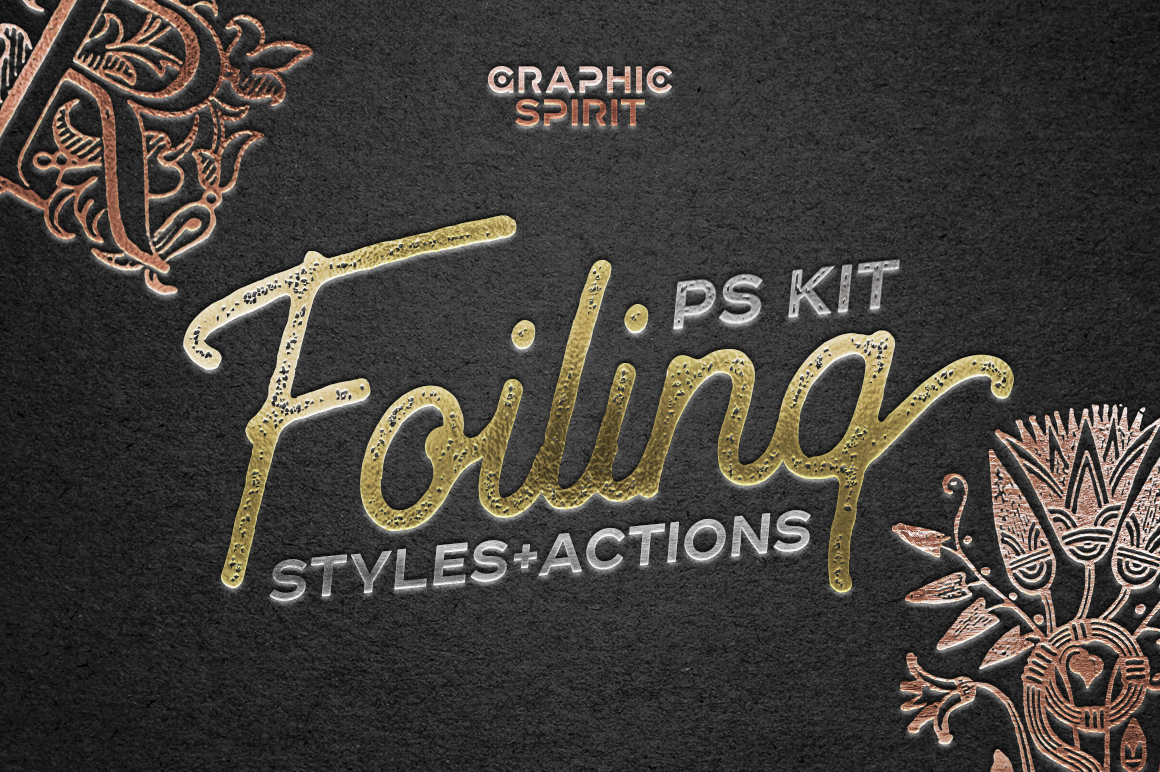 Foil Effect In Photoshop TOOLKIT in Actions & Presets on ...