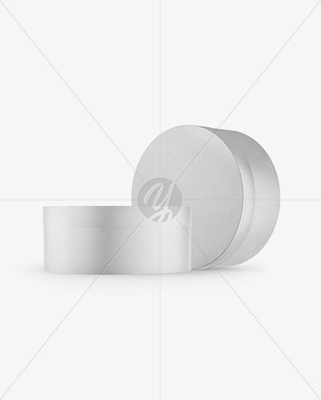 Kraft Round Paper Box Mockup