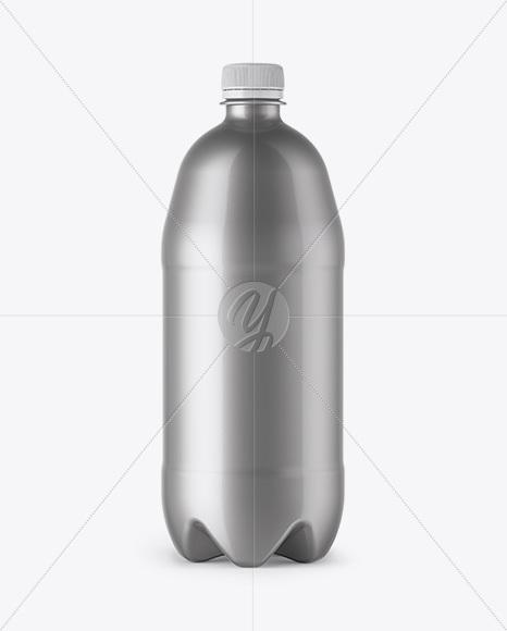 Plastic 1L Bottle Mockup