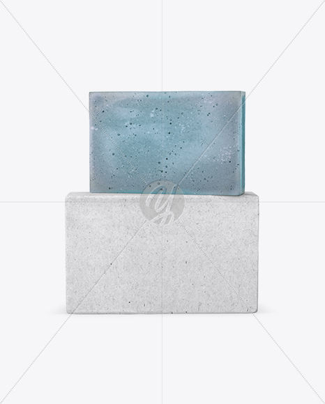 Kraft Pack With Blue Soap Mockup