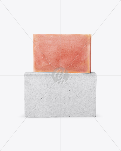 Kraft Pack With Orange Soap Mockup
