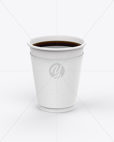 Opened Coffee Cup With Sleeve Mockup