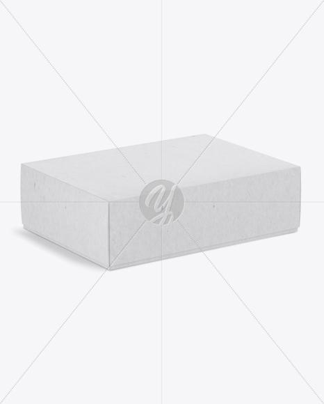 Textured Box Mockup - Half Side View (High-Angle Shot)