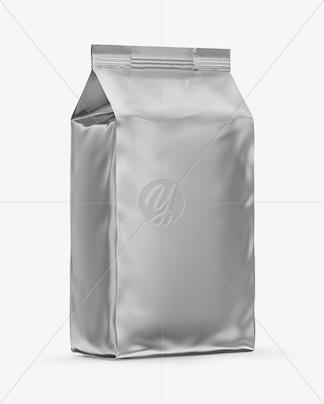 Matte Metallic Bag Mockup - Half Side View