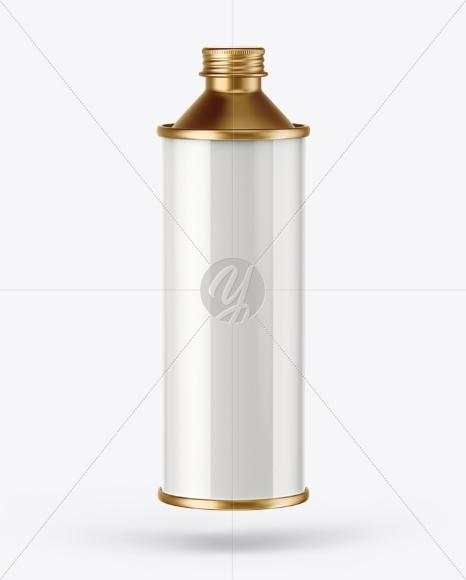 1L Olive Oil Metal Bottle Mockup
