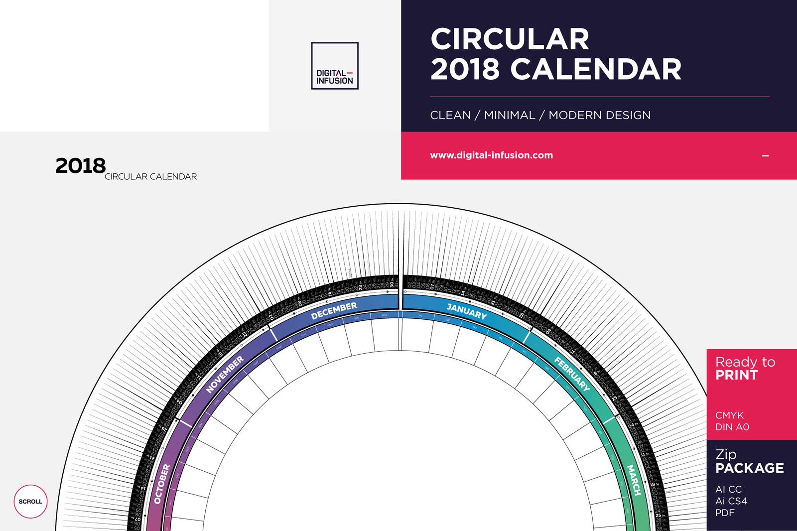 full moon calendar 2018 circular 2018 calendar in poster templates on yellow images creative