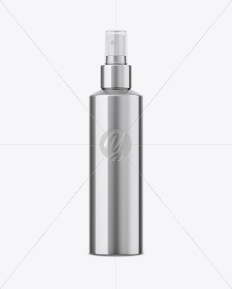 Metallic Cosmetic Sprayer Bottle Mockup