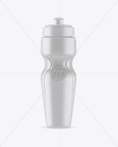 Matte Sport Bottle Mockup