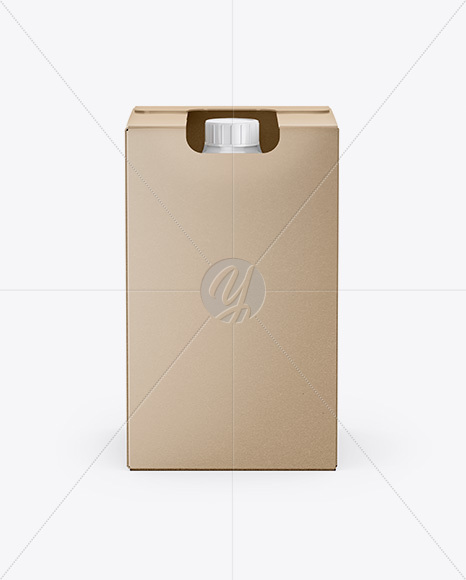 Box with Bottle Mockup - Front View (High-Angle Shot)