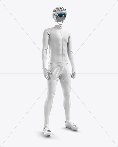 Men's Full Cycling Thermal Kit mockup (Hero Shot)