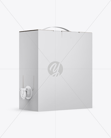 Bag In A Paper Box With Dispenser Mockup - Half Side View