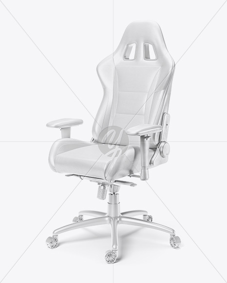 Gaming Chair Mockup - Half Side View