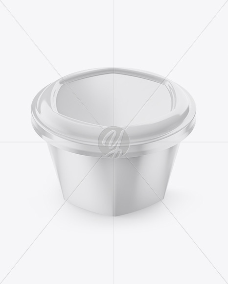 Plastic Cup Mockup - Front View (High-Angle Shot)