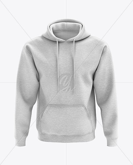 Men's Heather Hoodie mockup (Front View)