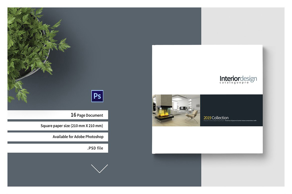 Psd Square Interior Brochure In Brochure Templates On Yellow