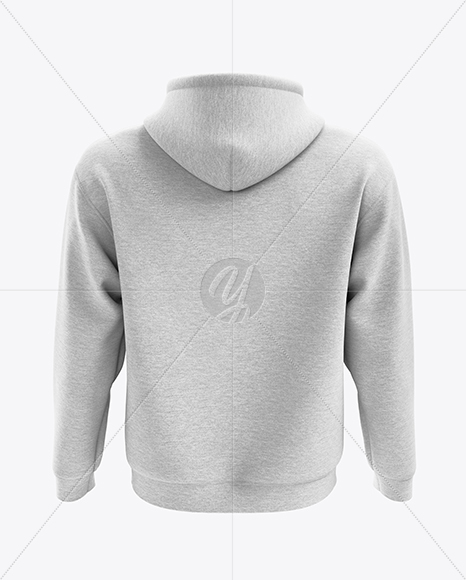 Men's Heather Hoodie mockup (Back View)