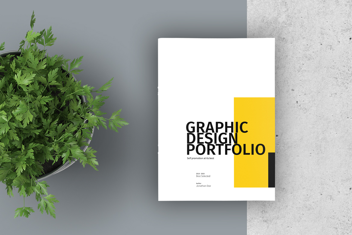 Graphic Design Portfolio Template In Brochure Templates On